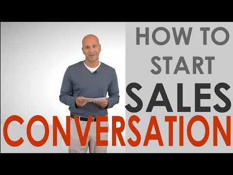 Starting a Sales Conversation & Cross-Selling