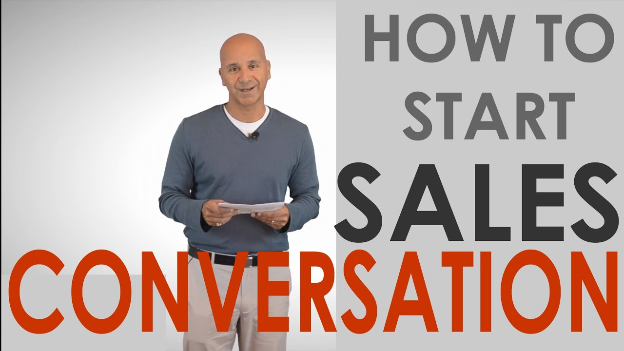 Starting A Sales Conversation Cross Selling Youtube