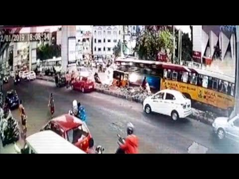 Hyderabad: 1 dead, 3 injured after bus loses control