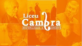 Liceu Cambra 2017 - Concerts i Masterclasses al Conservatori del Liceu