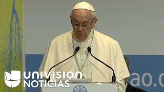 Papa Francisco critica indirectamente a EEUU por abandonar pacto contra el cambio climático