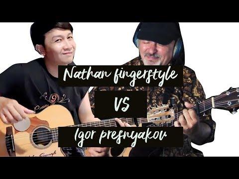 adu skill gitar !! Nathan Fingerstyle VS Igor Presnyakov   AKAD – Payung Teduh