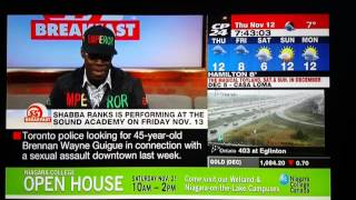 SHABBA RANKS INTERVIEW AT CP24 IN TORONTO CANADA