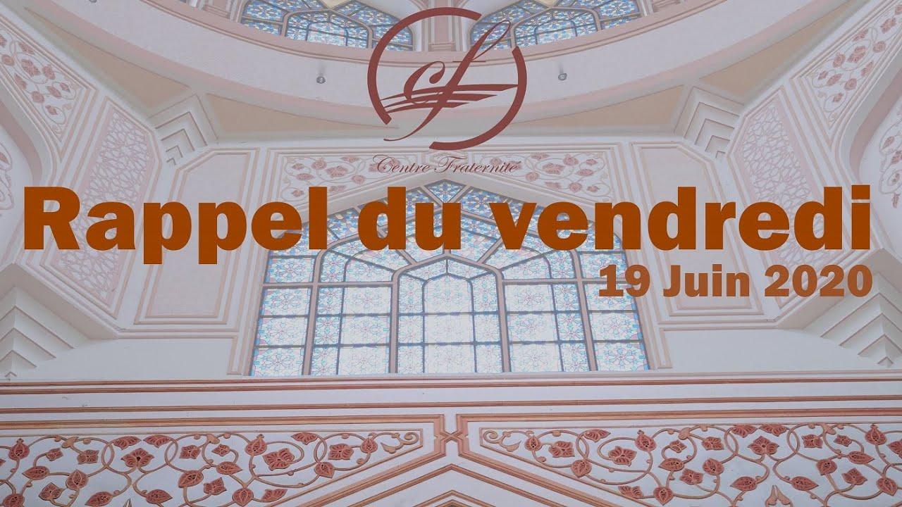Rappel du vendredi 19/06/2020 | Centre Fraternité Lille Fives