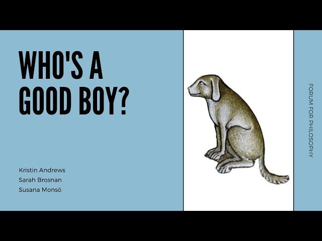 Who's a Good Boy? | With Kristin Andrews, Sarah Brosnan, and Susana Monsó
