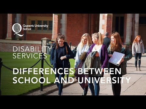 Differences between school and university