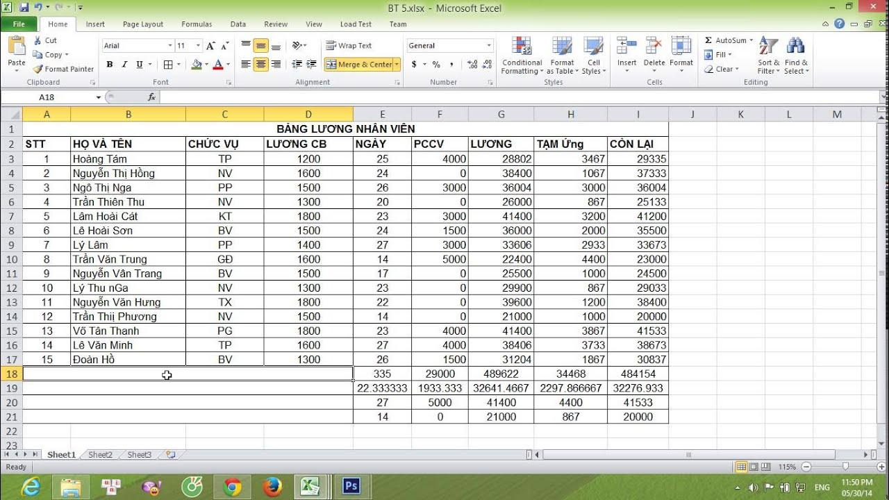 Hướng dẫn cách kẻ bảng trong Excel 2003, 2007, 2010, 2013…