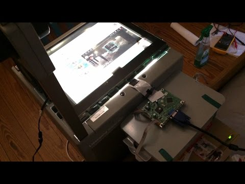 DIY Video Projector from an old Overhead Projector