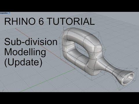 Rhino 6 Tutorial: Sub-division modelling & workflow (update)