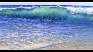 How to Paint Water On A Beach - Mural Joe