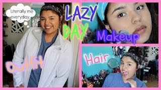 Lazy Day | Makeup, Hair, & Outfit Thumbnail