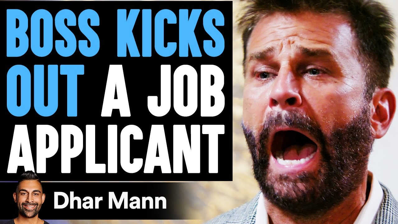 Download Boss KICKS OUT A JOB APPLICANT, He Lives To Regret It | Dhar Mann
