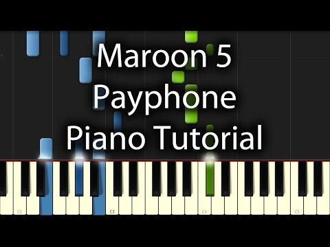 Maroon 5 - Payphone (How to Play on Piano) feat. Wiz Khalifa Tutorial