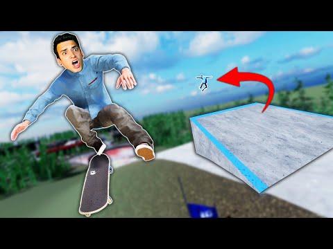 SKATING THE BIGGEST SKATEPARK EVER! (Skater XL) |