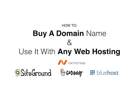 How To Purchase A Domain Name and Point It to Your Web Hosting