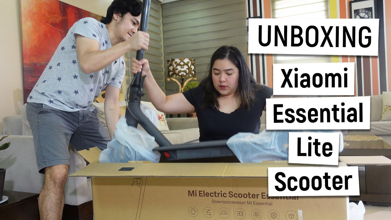 Xiaomi Scooter Essential Lite Unboxing Youtube