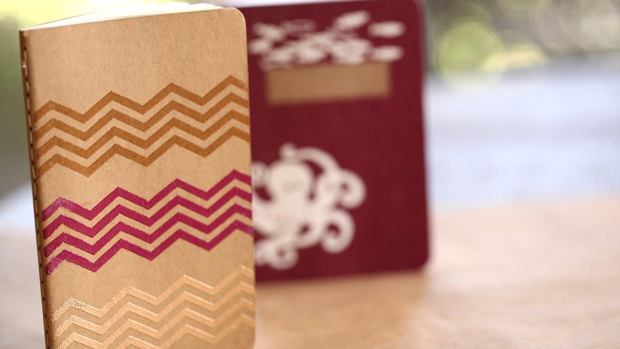 Foil Stamping Book Cover Diy ~ Diy stamp embossed journal kin community youtube