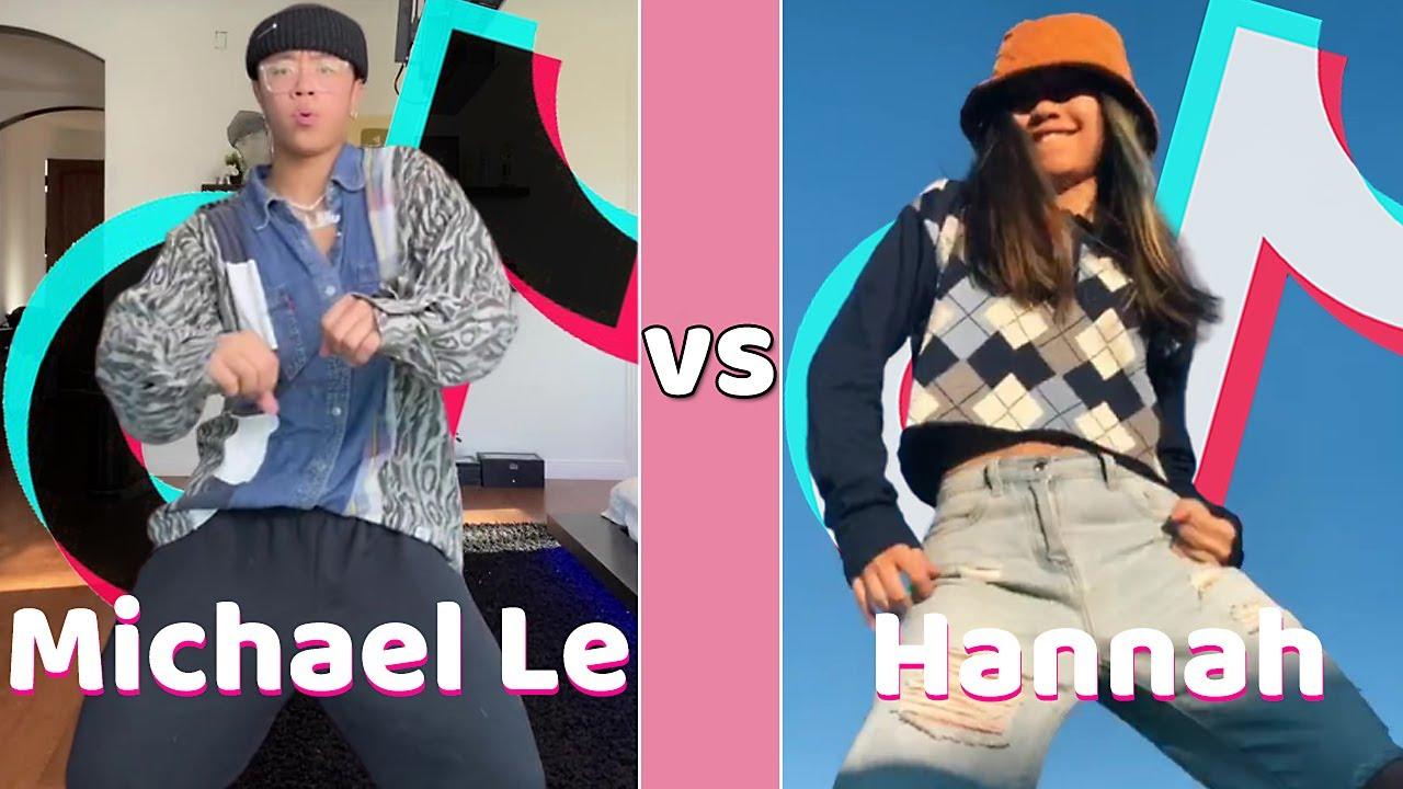 Michael Le Vs Hannah TikTok Dances Compilation ✨August 2020✨
