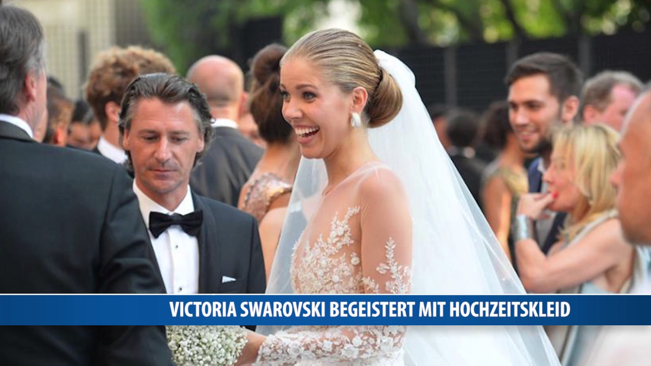 Victoria Swarovski begeistert mit Hochzeitskleid