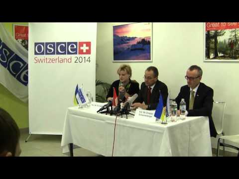 Press Conference by OSCE Personal Envoy on Ukraine
