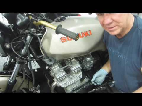 HOW TO REPLACE SUZUKI GS1100E CLUTCH CABLE EASY WAY
