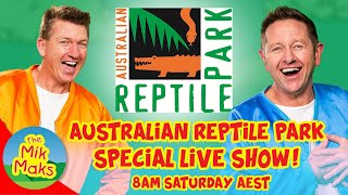 Live show with kids songs and videos | Australian Reptile Park | The Mik Maks