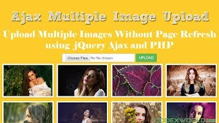 Upload Multiple Images without Page Refresh using jQuery Ajax and PHP