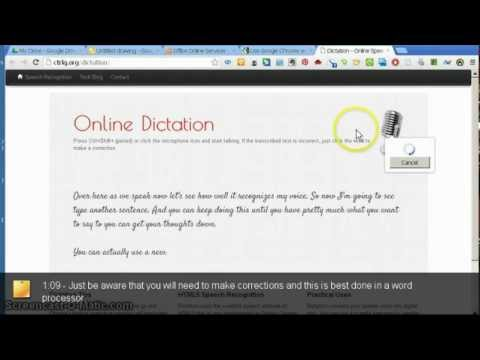 Using Voice Recognition in Google Chrome with Online Dictation