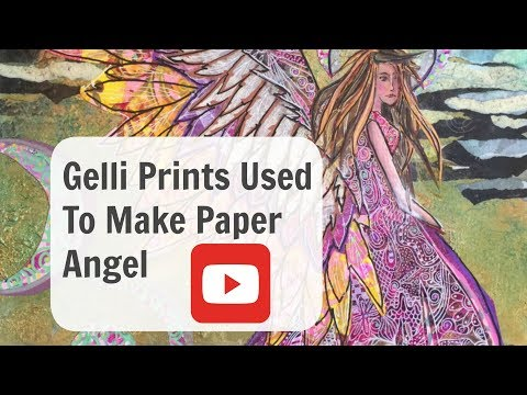 How to use Gelli Prints in your artwork collage pieces.