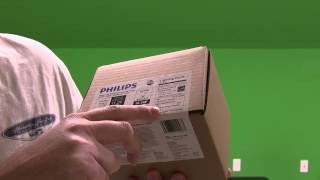philips 11 watt a19 led household dimmable light bulb unboxing