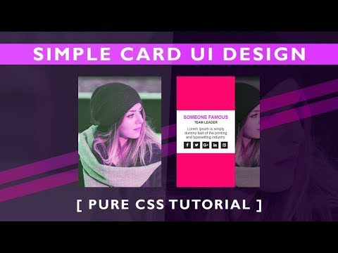 Online Tutorial for Simple Card UI Design Hover Effects in HTML CSS With Demo thumbnail