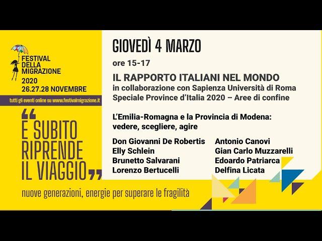 Il Rapporto Italiani nel Mondo 2020