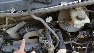 Как проверить давление помпы на Opel Vivaro 1.9d CR, F9Q762