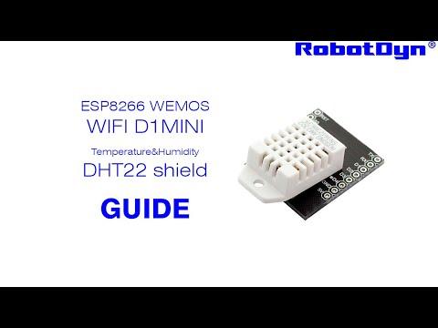 DHT22 sensor shield & WiFi D1 mini - Temperature/Humidity Webserver