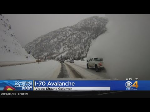 VIDEO: Avalanche Sends Snow Onto Interstate 70
