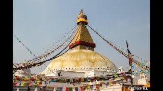 Boudhanath Boudha stupa in Kathmandu, Nepal - Sights and sounds