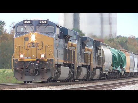 [1Y] CSX Trains Braving the Infamous Comer Hill, Elberton - Hull GA, 11/07/2015 ©mbmars01