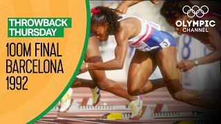 The Closest Ever Women's 100m final at the Olympics - Barcelona 1992 | Throwback Thursday