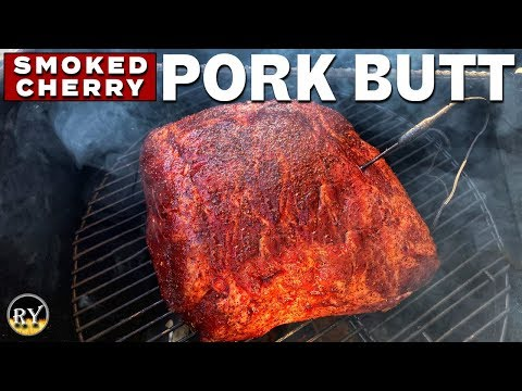 Cherry Pork Butt Smoked On The Pit Barrel Cooker