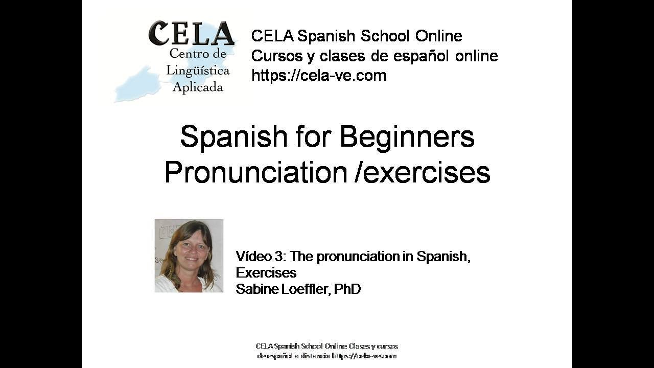 Spanish pronunciation practice