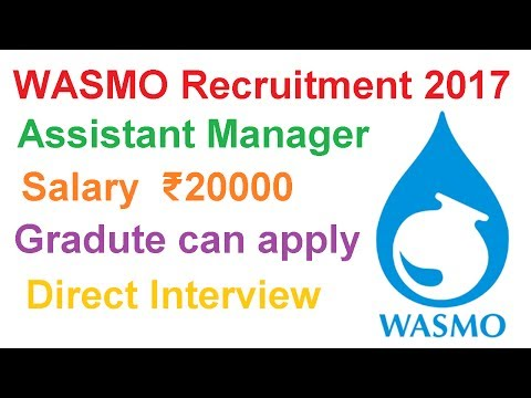 WASMO Recruitment 2017 | Assistant Manager Post