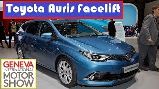 Toyota Auris Facelift, live photos at 2015 Geneva Motor Show