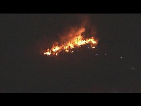 Firefighters Battle Junkyard Fire In Port Richmond