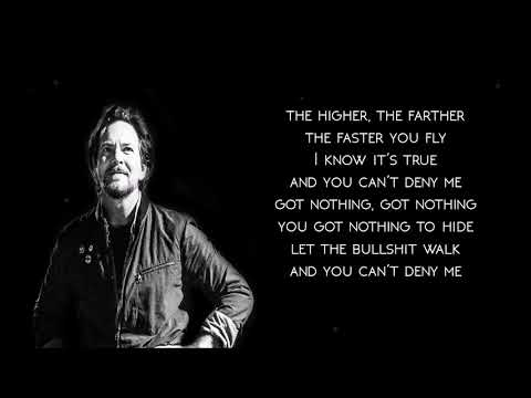Pearl Jam - Can't deny me (lyrics)