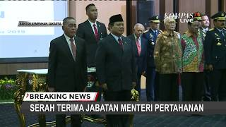 Ryamizard Serah Terima Jabatan Menhan ke Prabowo Subianto