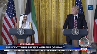 PRESIDENT DONALD TRUMP FULL PRESS CONFERENCE with Emir of Kuwait 9/7/17