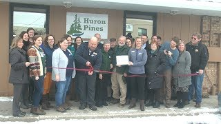 Ribbon cutting ceremony for Huron Pines