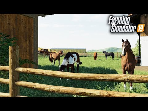 FS19- Investing in Horse Production on the Farm! Buying Stable, Fences & Horses thumbnail