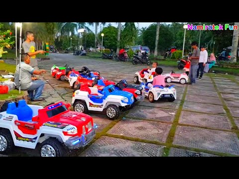 Bermain Naik Odong Odong mobil - mobilan anak | Kids Play Power Wheels Ride on Fun Cars for Kids