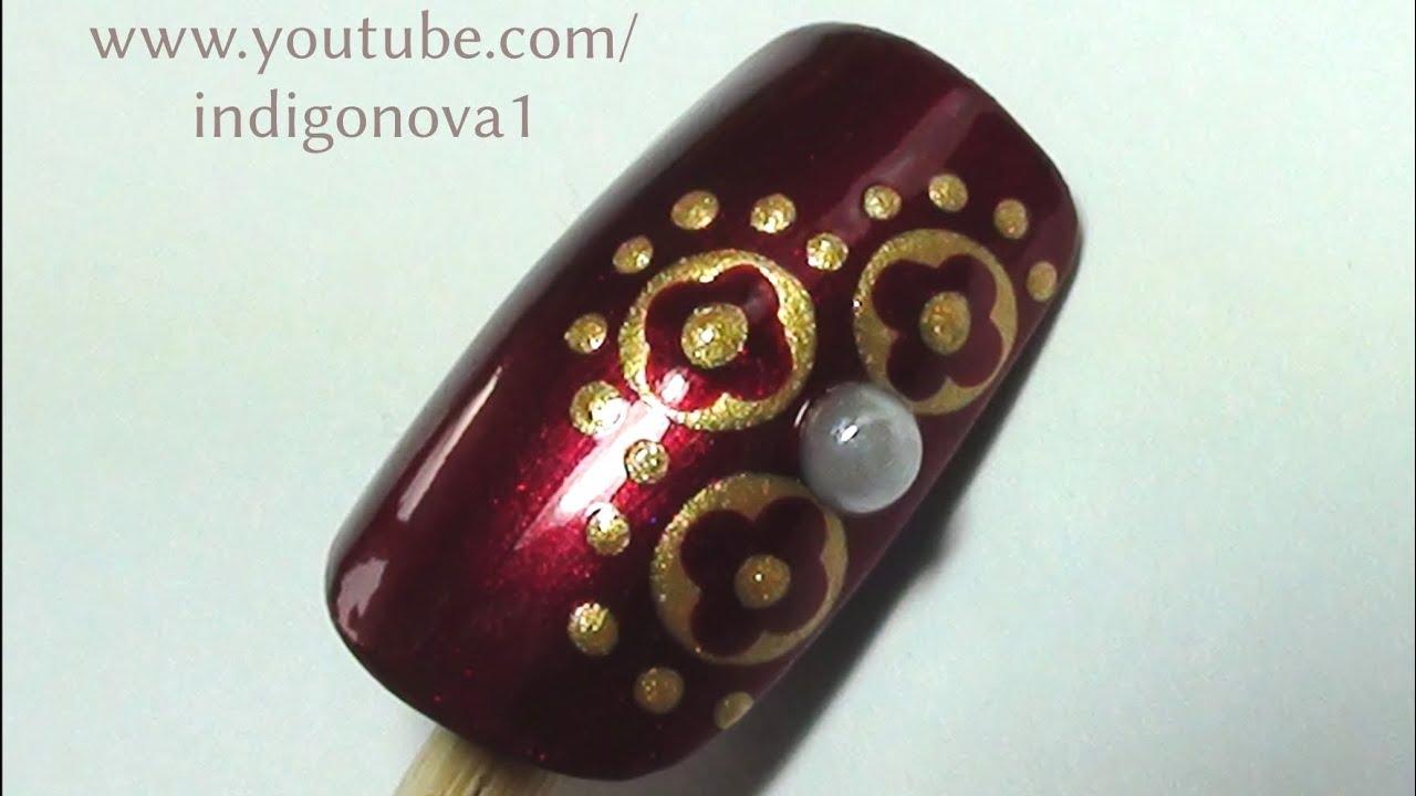 Medieval Tudor Nail Art Design Youtube